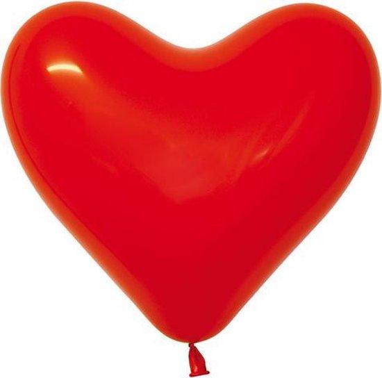 "Sempertex 50 ballonnen hart 16""/40cm Fashion Red 015"