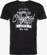 Unsigned heren T-shirt - Zwart - Maat L