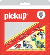 Pickup plakletters boekje largo 8mm letters + cijfers wit