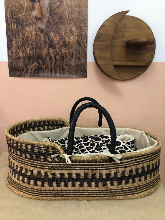 Product: Manoh Moses mozes mandje - babybed - handgemaakt - zeegras - draagwiegjes - babykamermeubel, van het merk Manoh
