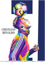 Poster Cristiano Ronaldo - EK voetbal 2021 - 60x42cm