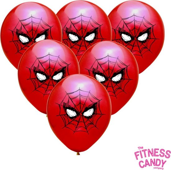 Spiderman Ballonnen - Set van 6