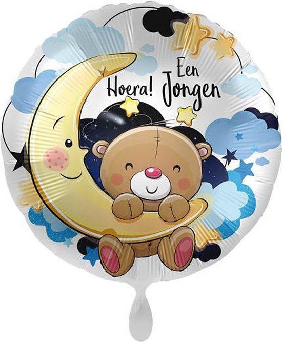 Everloon - Folieballon - Hoera! Een Jongen - 43cm - Voor Geboorte Baby Jongen