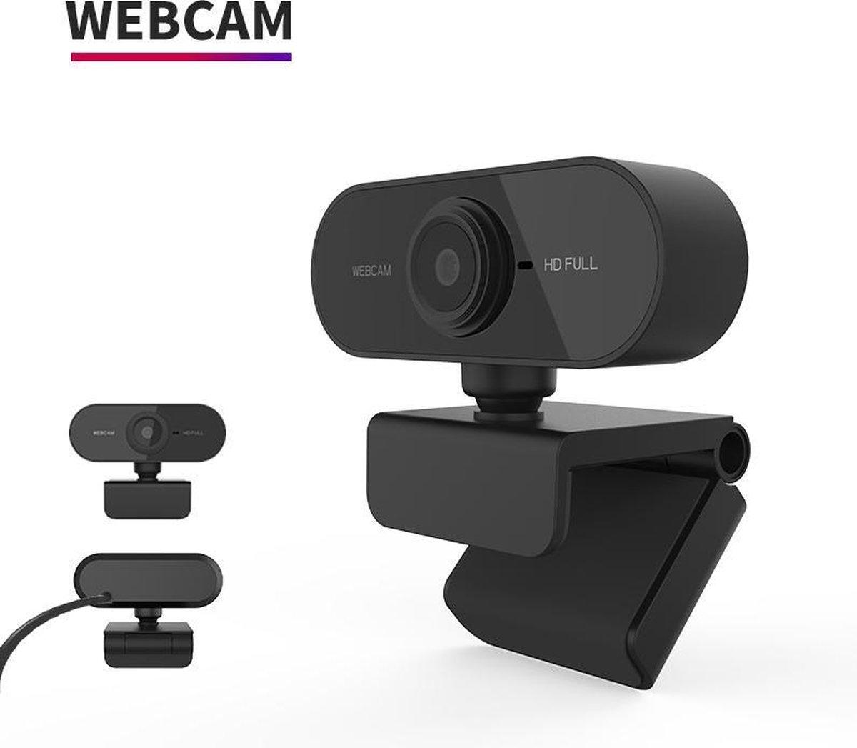 Webcam full HD (1080p) - Met ingebouwde microfoon - USB Webcam voor PC