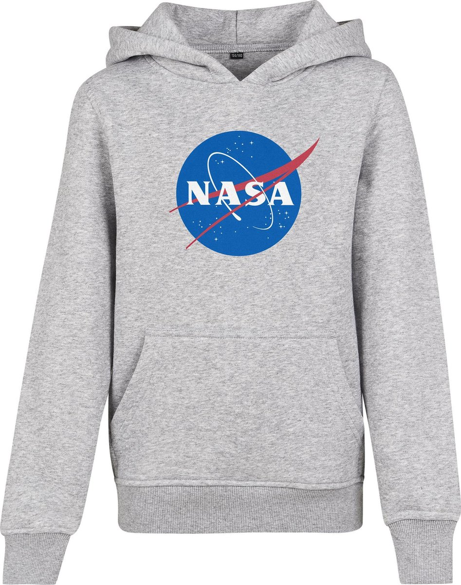 Kids NASA hoody in kleur grijs maat 146/152