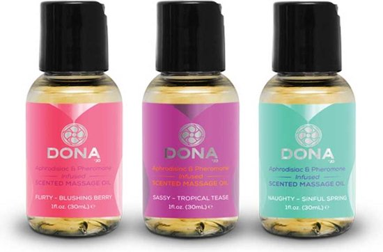 Dona Scented Massage Gift Set  – 3 x 30 ml