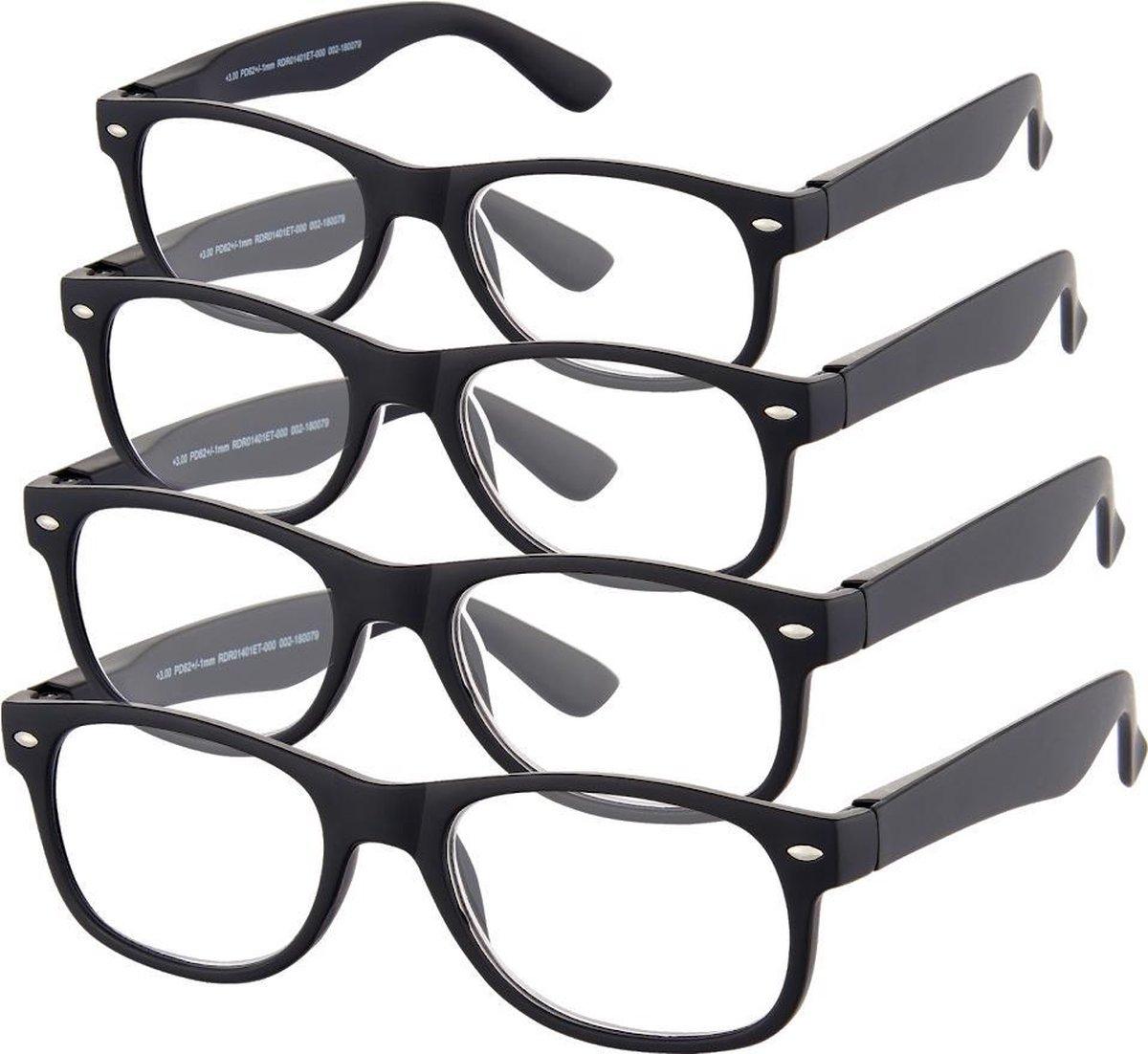 Etos Leesbril Mat Zwart +3.0 - 4 stuks