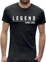 40 jaar verjaardag t-shirt mannen  / kado cadeau tip / heren / Legend 1979