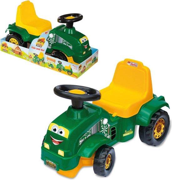 Loopauto - Tractor - Groen - Kinderspeelgoed 1 jaar - Speelgoed - Speelgoed 2 jaar - Speelgoed jongens - Speelgoed meisjes - Speelgoed 1 jaar - Loopwagen
