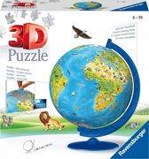 Ravensburger XXL Kinder globe (Engels) - 3D Puzzel - 180 stukjes