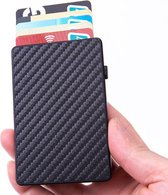 Luxe Carbon aluminium pasjeshouder (anti-RFID) | Zwart