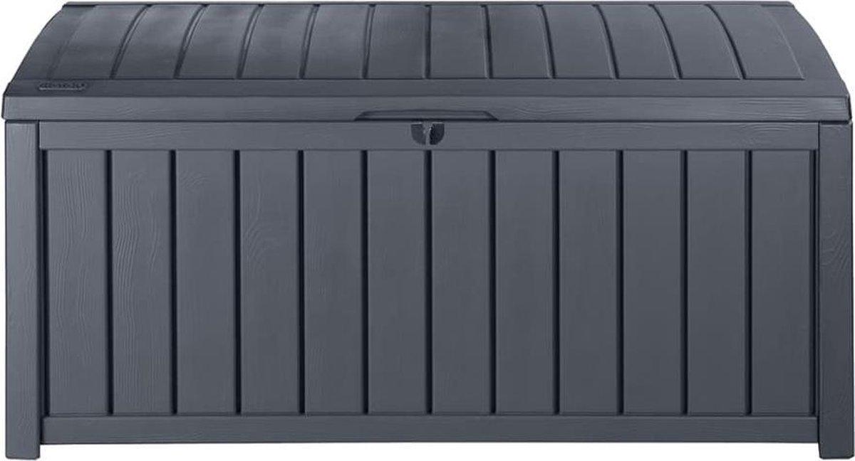 Keter Glenwood Opbergbox - 390L - 128x65x61cm - Grafiet