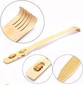 Rugkrabber - Rugborstel - Ruggenkrabber Bamboe -  Rugmassage  -  Ruggen Krabber -  Massage roller - 2 in 1 Rugkrabber