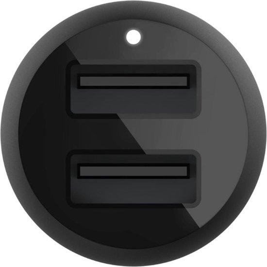 Belkin autolader met 2 poorten - 2.4A - 24W - Zwart