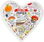 Blond Amsterdam Valentijn Schaal - You're Super - 22 cm