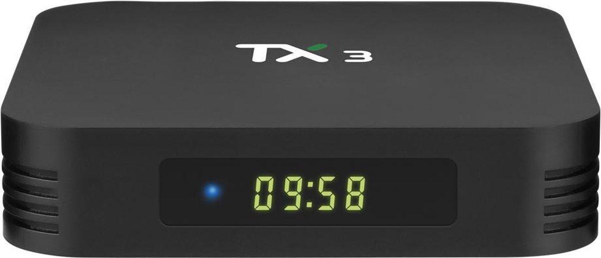 TX3 Tv box 2/16 GB Android 9.0 – Met Kodi, Netflix en Playstore- 8K en 4K decoder