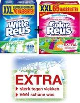 SETPRIJS Color + Witte Reus Waspoeder Wasmiddel - Witte Reus - Voordeelverpakking - 65 wasbeurten + 70 wasbeurten
