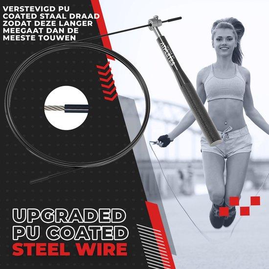 Tested by Athletes© - Speed Rope Springtouw + E-Book met oefeningen - Verstelbaar - Met Kogellager