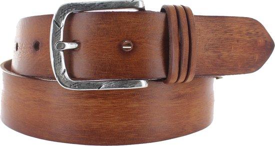JOB86 – Trendy lederen jeansriem – Cognac – 90 cm