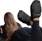 MikaMax Magnetron Sloffen - Warmte Sloffen Pantoffels - One size - Lavendel geur – Zwart