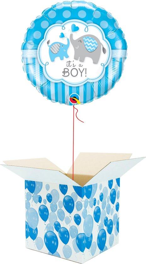 Helium Ballon Hart gevuld met helium - Geboorte - Cadeauverpakking - It