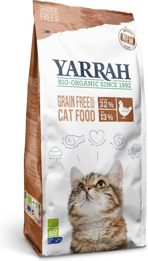Yarrah Cat Adult - Graanvrij - Kip & Vis