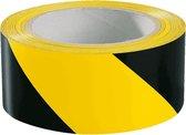Vloermarkeringstape Premium, laminaat, geel zwart 50 mm