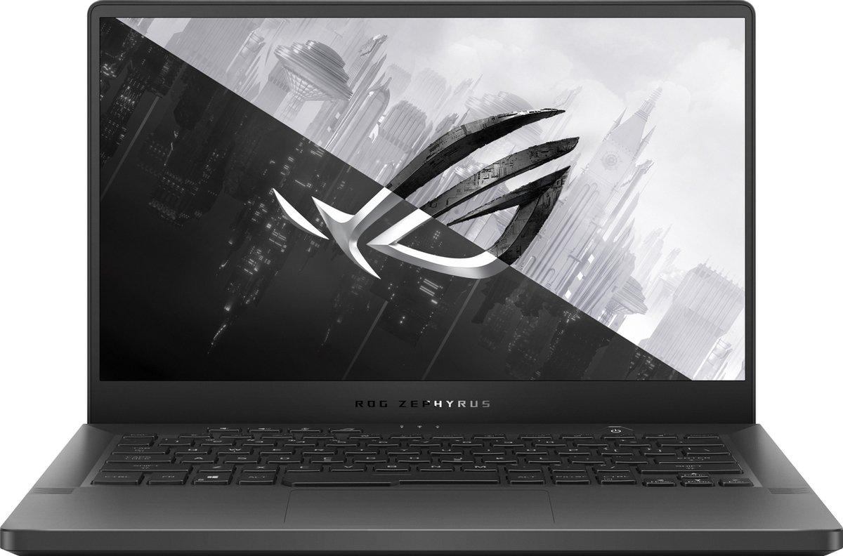 ASUS ROG Zephyrus G14 GA401II-HE092T-BE Notebook 35,6 cm (14) Full HD AMD Ryzen 7 16 GB DDR4-SDRAM 512 GB SSD NVIDIA® GeForce® GTX 1650 Ti Wi-Fi 6 (802.11ax) Windows 10 Home Grijs
