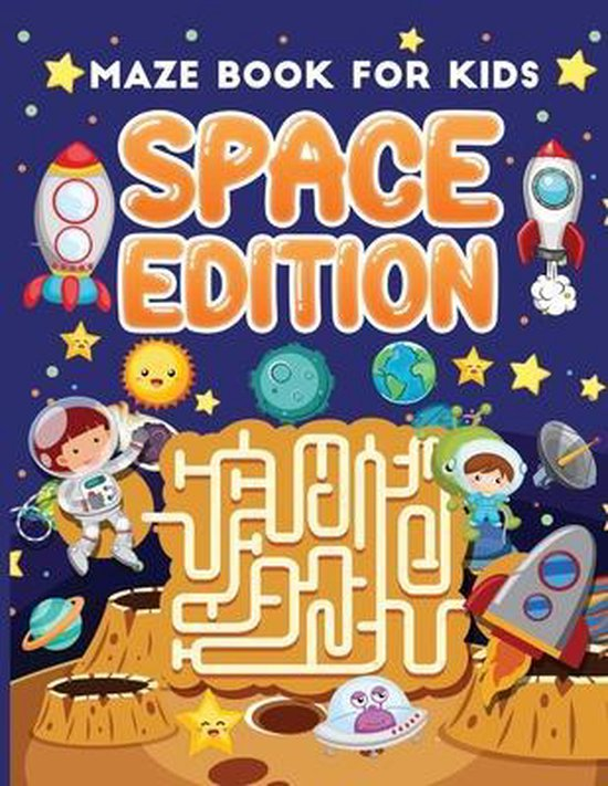 maze book for kids space edition