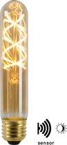 Lucide T32 TWILIGHT SENSOR - Filament lamp Buiten - Ø 3,2 cm - LED - E27 - 1x4W 2200K - Amber