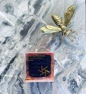 LXRY Silk - 6 kleine zijden scrunchies / haarelastiekjes - zwart