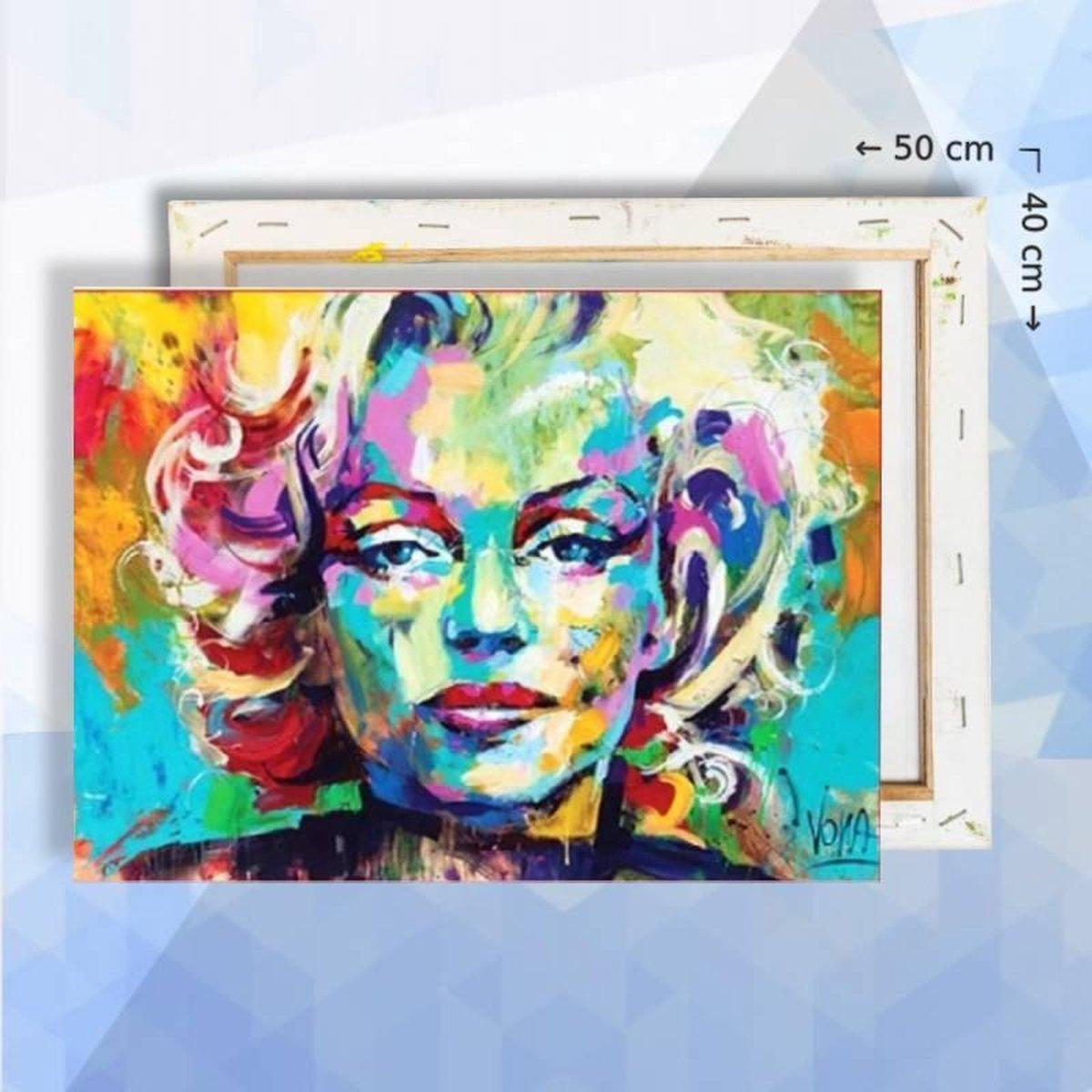 Schilderen op nummer pakket Marilyn Monroe 40 x 50 cm - met frame