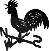 Talen Tools - Windhaan - Windwijzer - Zwart - Inclusief bevestigingsmateriaal