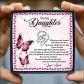 Vader dochter ketting vlinders - ketting van vader naar dochter - vader dochter kado