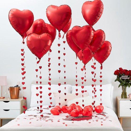 Bol Com Valentijnsdag Romantische Kamer Decoratie 15 Stuks 18 Inch Harvormige Folieballonnen
