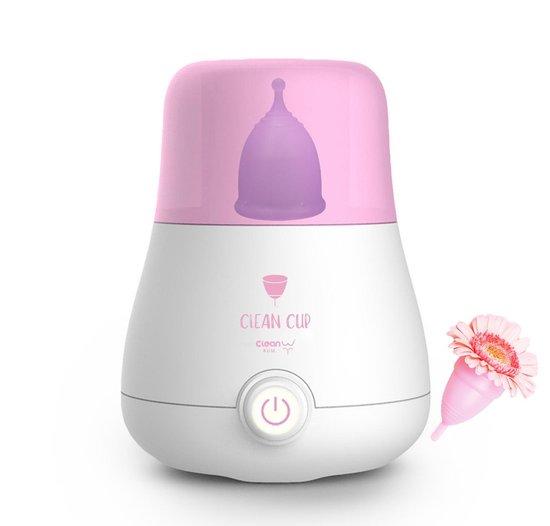 Sterilisator Menstruatiecups - Menstruatiecup Schoonmaken - Alle soorten en maten cups (o.a. organicup en divacup) - Geen magnetron nodig - Elektrische stoomsterilisator
