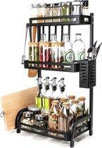 Sens Design Kruidenrek staand – Keukenrek voor kruidenpotjes - Zwart