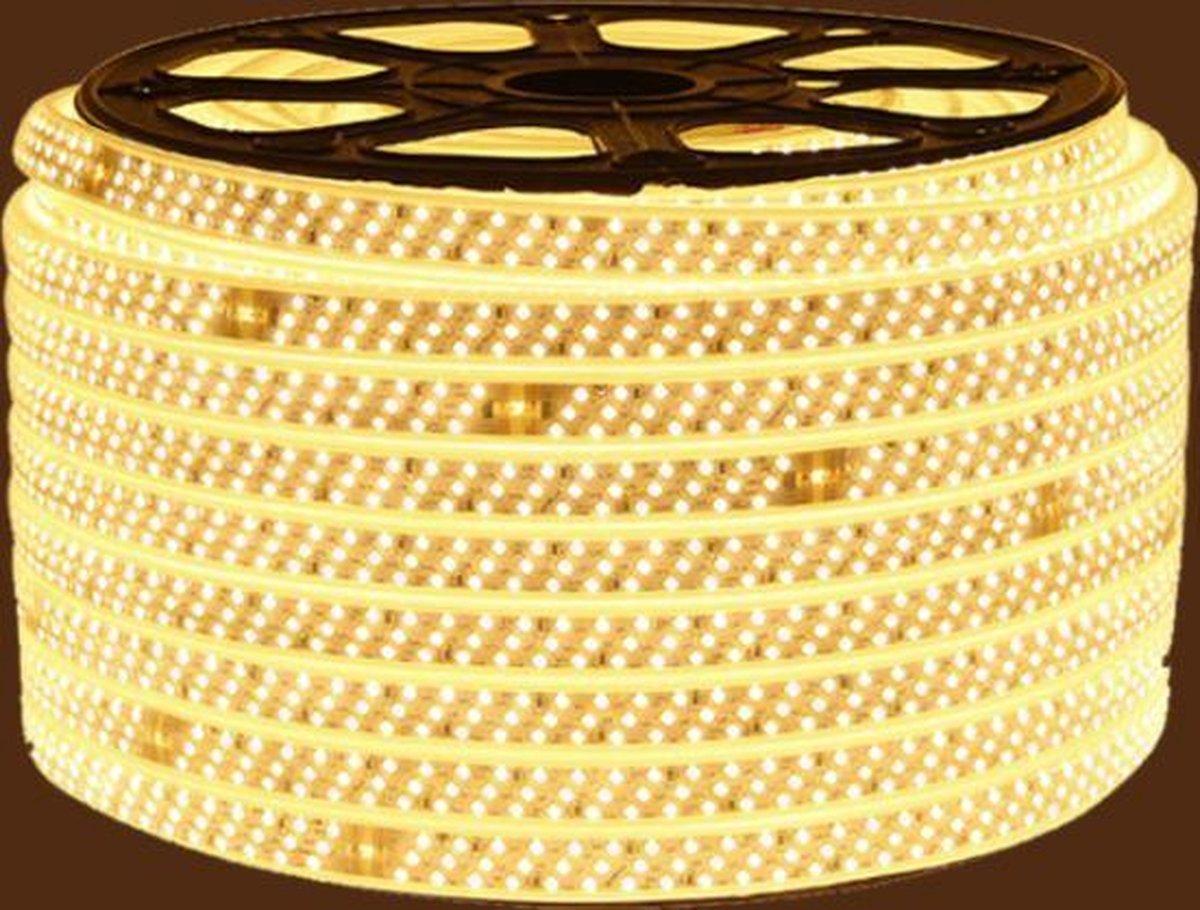 5 METER DRIE RIJEN EXTRA HELDER LED STRIP 15MM 2835-276LEDS WARM KLEUR 1 METER VOOR BINNEN EN BUITEN (LET OP :GEEN STEKKER INBEGREPEN)