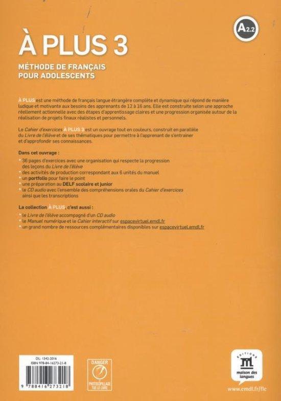 Bol Com à Plus 3 Cahier D Exercices Cd 9788416273218 Thierry Lancien Boeken
