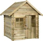 Swing King speelhuis Louise deLuxe 124x150x160 cm - Geïmpregneerd FSC hout