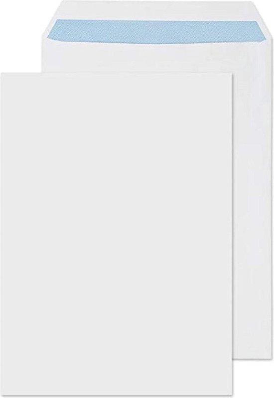 Afbeelding van Enveloppen A4 formaat wit - 229 x 324 MM - 50 stuks - Zelfklevend met plakstrip - 120 Gram speelgoed