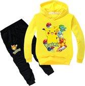 Pokémon trainingspak hoodie - Pikachu - trui en broek - pyjama - kinderen - kleding