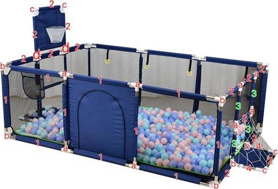 Product: XL speelbox Blauw - Playpen - GrondBox - Baby Grondbox   BuySafe24/7 Gratis Muggenclip, van het merk Merkloos
