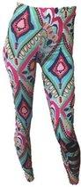 jtb-store - high waist sport legging yogalegging dames  - Mint/Pink  - maat S