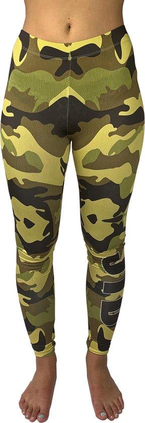 jtb-store - high waist sport legging yogalegging dames  - Army  - maat S