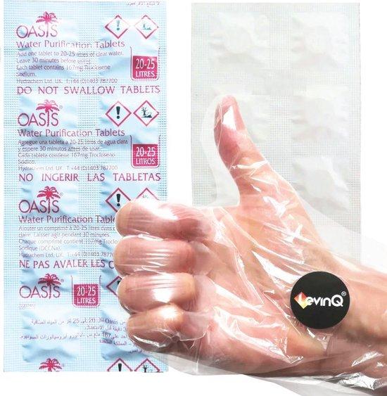 LevinQ® Water Roeitrainer Puritabs Chloortabletten Roeimachines 1x 10 tabletten + Handschoenen