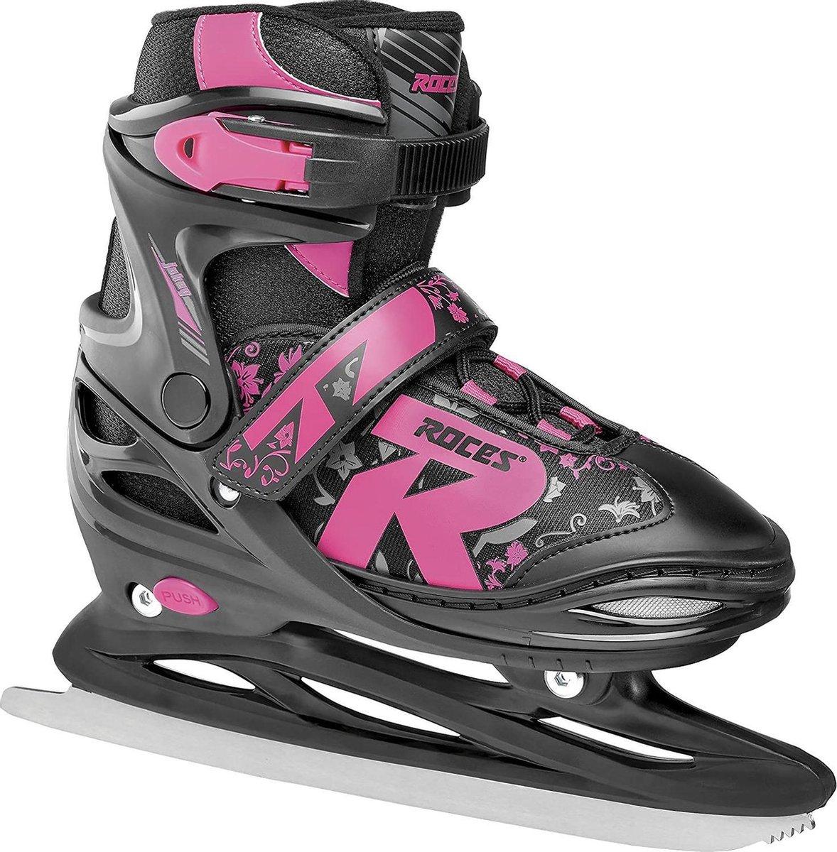 Roces - Jokey ice 2.0 - Verstelbare schaatsen - Maat 30-33 - Zwart - Roze - IJshockeyschaats voor kinderen