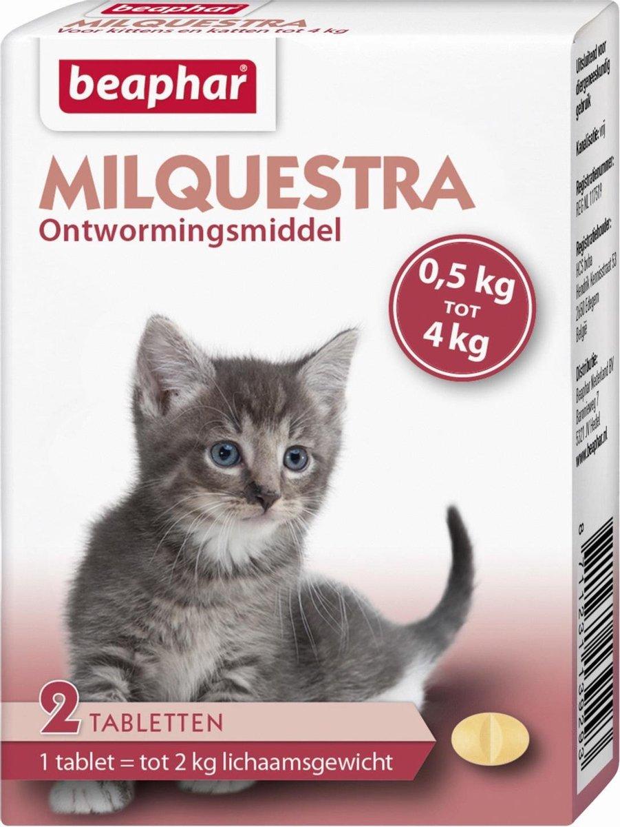 Beaphar Milquestra Kleine kat/kitten - 0,5 tot 4 Kg - 2 tabletten