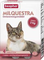 Beaphar Milquestra wormtabletten kat 4 tabletten vanaf 2 - 12kg