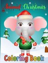 Animal Christmas Coloring Book